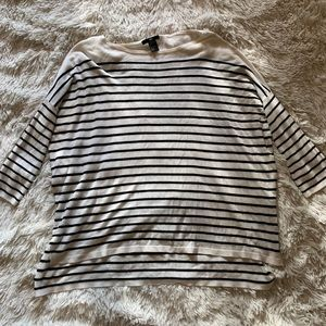 H&M 3/4 SLEEVE STRIPED TOP
